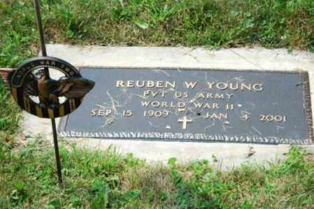 YOUNG, REUBEN W. - Coshocton County, Ohio   REUBEN W. YOUNG - Ohio Gravestone Photos