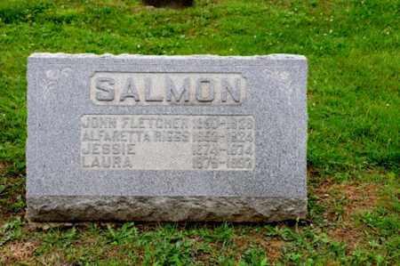 RIGGS SALMON, ALFARETTA - Coshocton County, Ohio | ALFARETTA RIGGS SALMON - Ohio Gravestone Photos