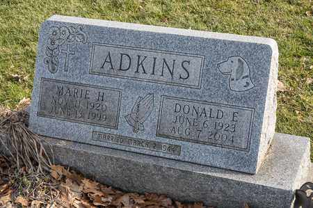 ADKINS, MARIE H - Crawford County, Ohio | MARIE H ADKINS - Ohio Gravestone Photos