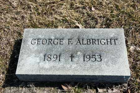ALBRIGHT, GEORGE F - Crawford County, Ohio   GEORGE F ALBRIGHT - Ohio Gravestone Photos