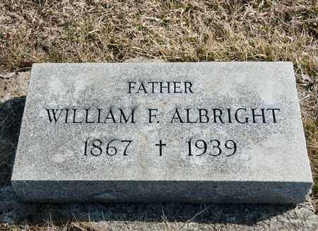 ALBRIGHT, WILLIAM F - Crawford County, Ohio   WILLIAM F ALBRIGHT - Ohio Gravestone Photos