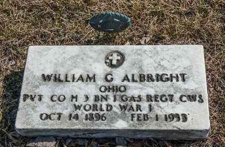 ALBRIGHT, WILLIAM G - Crawford County, Ohio | WILLIAM G ALBRIGHT - Ohio Gravestone Photos