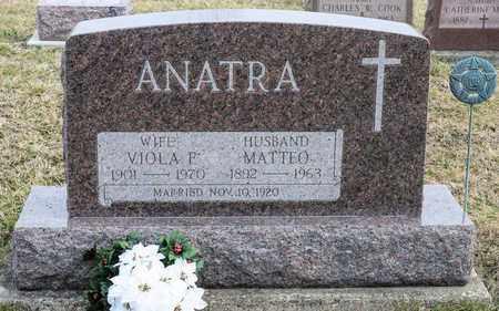 ANATRA, MATTEO - Crawford County, Ohio | MATTEO ANATRA - Ohio Gravestone Photos