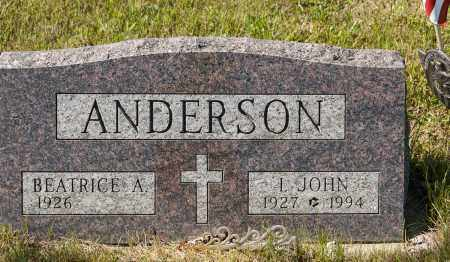 ANDERSON, I. JOHN - Crawford County, Ohio | I. JOHN ANDERSON - Ohio Gravestone Photos