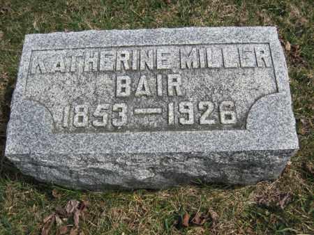 MILLER BAIR, KATHERINE - Crawford County, Ohio   KATHERINE MILLER BAIR - Ohio Gravestone Photos