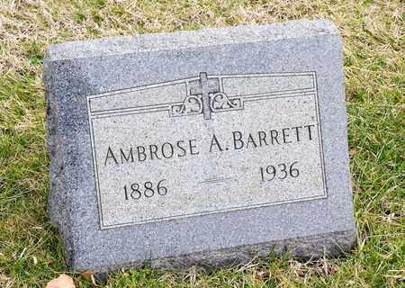 BARRETT, AMBROSE A - Crawford County, Ohio | AMBROSE A BARRETT - Ohio Gravestone Photos