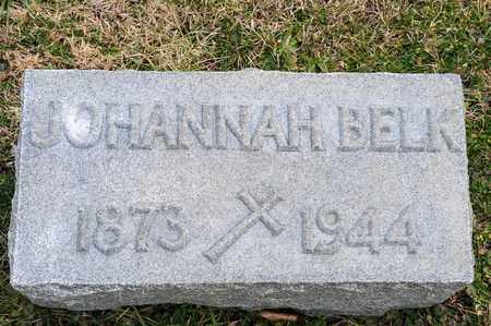 BELK, JOHANNAH - Crawford County, Ohio   JOHANNAH BELK - Ohio Gravestone Photos