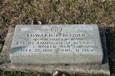 BENDER, EDWARD L - Crawford County, Ohio | EDWARD L BENDER - Ohio Gravestone Photos