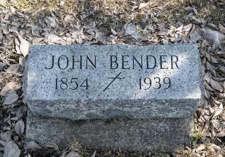 BENDER, JOHN - Crawford County, Ohio | JOHN BENDER - Ohio Gravestone Photos