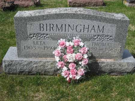 BIRMINGHAM, LETA - Crawford County, Ohio | LETA BIRMINGHAM - Ohio Gravestone Photos