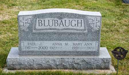 BLUBAUGH, MARY ANN - Crawford County, Ohio   MARY ANN BLUBAUGH - Ohio Gravestone Photos