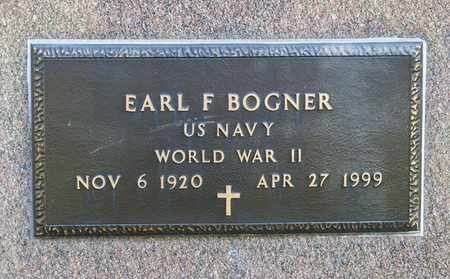 BOGNER, EARL F - Crawford County, Ohio | EARL F BOGNER - Ohio Gravestone Photos
