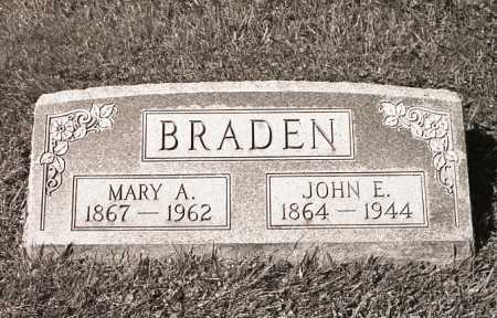 BRADEN, MARY A. - Crawford County, Ohio | MARY A. BRADEN - Ohio Gravestone Photos