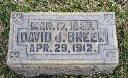 BREEN, DAVID J - Crawford County, Ohio | DAVID J BREEN - Ohio Gravestone Photos