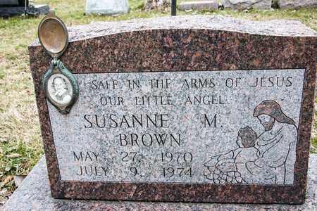 BROWN, SUSANNE M - Crawford County, Ohio | SUSANNE M BROWN - Ohio Gravestone Photos