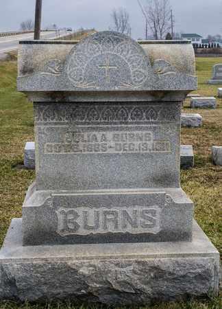 BURNS, JULIA A - Crawford County, Ohio | JULIA A BURNS - Ohio Gravestone Photos