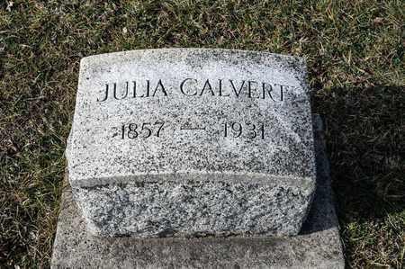 CALVERT, JULIA - Crawford County, Ohio   JULIA CALVERT - Ohio Gravestone Photos