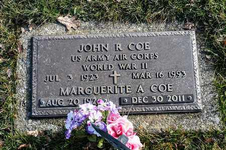 COE, MARGUERITE A - Crawford County, Ohio | MARGUERITE A COE - Ohio Gravestone Photos