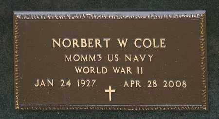 COLE, NORBERT W - Crawford County, Ohio | NORBERT W COLE - Ohio Gravestone Photos