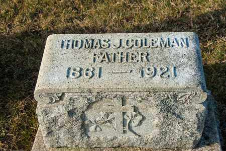 COLEMAN, THOMAS J - Crawford County, Ohio   THOMAS J COLEMAN - Ohio Gravestone Photos