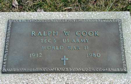 COOK, RALPH W - Crawford County, Ohio   RALPH W COOK - Ohio Gravestone Photos