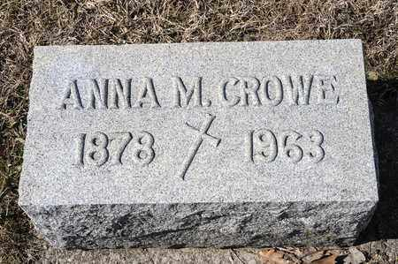 CROWE, ANNA M - Crawford County, Ohio | ANNA M CROWE - Ohio Gravestone Photos