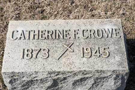 CROWE, CATHERINE F - Crawford County, Ohio   CATHERINE F CROWE - Ohio Gravestone Photos