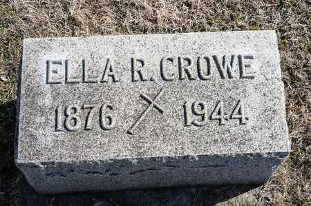CROWE, ELLA R - Crawford County, Ohio | ELLA R CROWE - Ohio Gravestone Photos