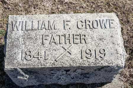 CROWE, WILLIAM F - Crawford County, Ohio   WILLIAM F CROWE - Ohio Gravestone Photos