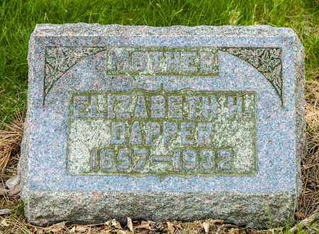 HELFRICH DAPPER, ELIZABETH - Crawford County, Ohio | ELIZABETH HELFRICH DAPPER - Ohio Gravestone Photos