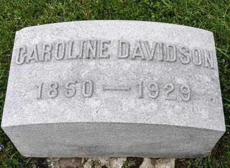 DAVIDSON, CAROLINE - Crawford County, Ohio | CAROLINE DAVIDSON - Ohio Gravestone Photos