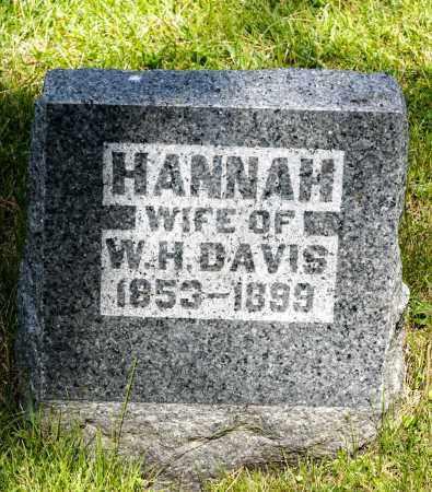 DAVIS, HANNAH - Crawford County, Ohio | HANNAH DAVIS - Ohio Gravestone Photos