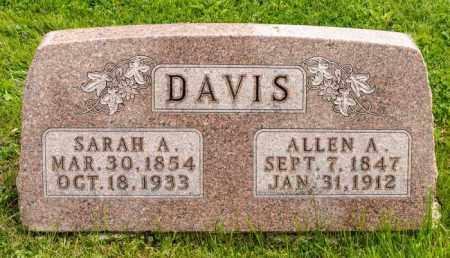 DAVIS, SARAH A. - Crawford County, Ohio | SARAH A. DAVIS - Ohio Gravestone Photos