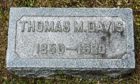 DAVIS, THOMAS M. - Crawford County, Ohio | THOMAS M. DAVIS - Ohio Gravestone Photos