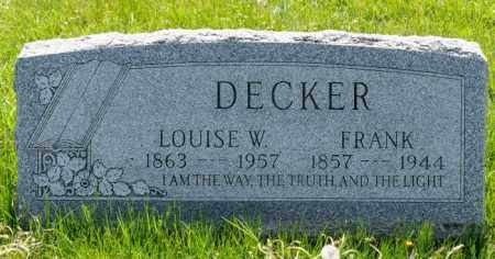 DECKER, LOUISE W. - Crawford County, Ohio | LOUISE W. DECKER - Ohio Gravestone Photos