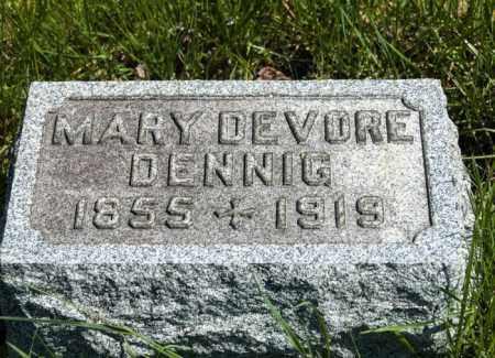 DEVORE DENNIG, MARY - Crawford County, Ohio   MARY DEVORE DENNIG - Ohio Gravestone Photos