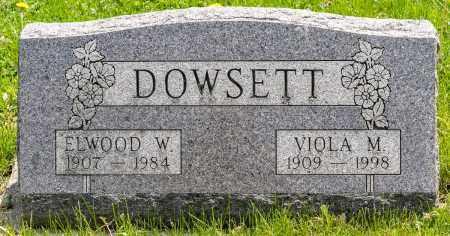 DOWSETT, ELWOOD W. - Crawford County, Ohio | ELWOOD W. DOWSETT - Ohio Gravestone Photos