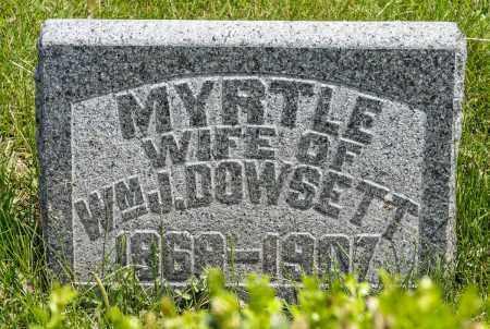 DOWSETT, MYRTLE - Crawford County, Ohio | MYRTLE DOWSETT - Ohio Gravestone Photos