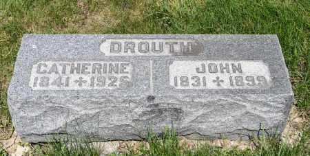 DROUTH, CATHERINE - Crawford County, Ohio | CATHERINE DROUTH - Ohio Gravestone Photos