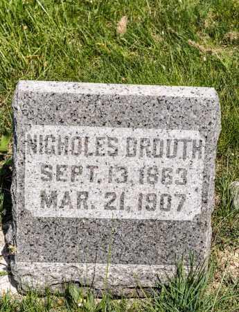 DROUTH, NICHOLES - Crawford County, Ohio | NICHOLES DROUTH - Ohio Gravestone Photos
