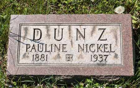 NICKEL DUNZ, PAULINE - Crawford County, Ohio   PAULINE NICKEL DUNZ - Ohio Gravestone Photos