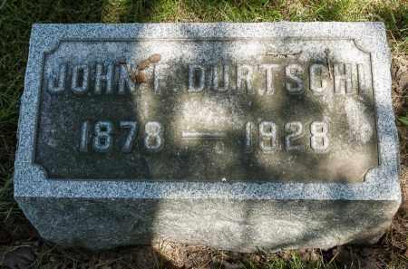 DURTSCHI, JOHN F. - Crawford County, Ohio | JOHN F. DURTSCHI - Ohio Gravestone Photos