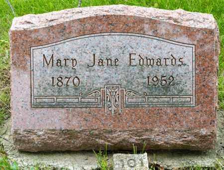 EDWARDS, MARY JANE - Crawford County, Ohio   MARY JANE EDWARDS - Ohio Gravestone Photos