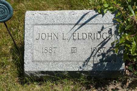 ELDRIDGE, JOHN LOGAN - Crawford County, Ohio | JOHN LOGAN ELDRIDGE - Ohio Gravestone Photos