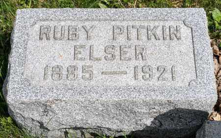 PITKIN ELSER, RUBY - Crawford County, Ohio | RUBY PITKIN ELSER - Ohio Gravestone Photos