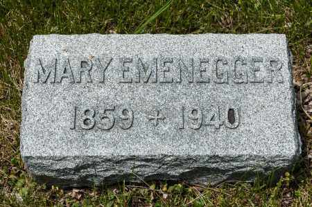 VETTER EMENEGGER, MARY - Crawford County, Ohio | MARY VETTER EMENEGGER - Ohio Gravestone Photos