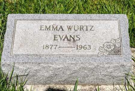 WURTZ EVANS, EMMA - Crawford County, Ohio | EMMA WURTZ EVANS - Ohio Gravestone Photos