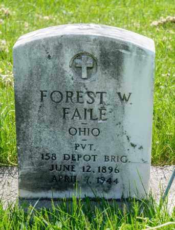 FAILE, FOREST W. - Crawford County, Ohio | FOREST W. FAILE - Ohio Gravestone Photos