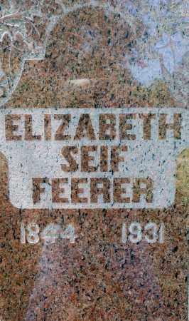 FEERER, ELIZABETH - Crawford County, Ohio | ELIZABETH FEERER - Ohio Gravestone Photos