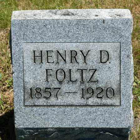 FOLTZ, HENRY D. - Crawford County, Ohio   HENRY D. FOLTZ - Ohio Gravestone Photos